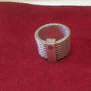 Authentic 925 Sterling Silver Mont Blanc ring